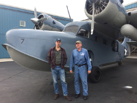 With instructor / author Burke Mees and the Grumman Goose August, 2018